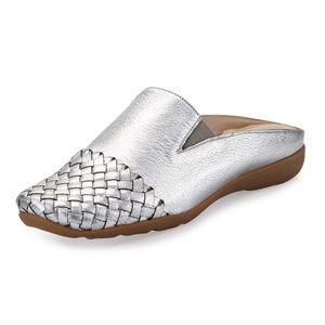 Sesto Meucci Gabor Woven Mule Sneaker Silver 8.5